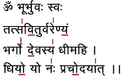 Gayatri Mantra Word For Word Translation Word By Word Meaning